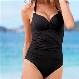 black VS one piece swimsuit!!
